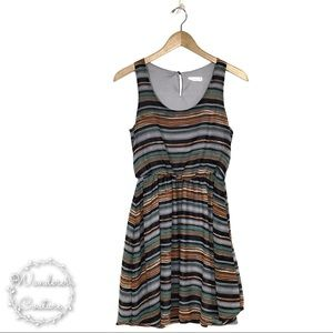 Lush Striped Sleeveless Dress
